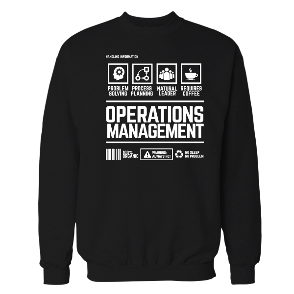 Operations Management Handling Black Shirt