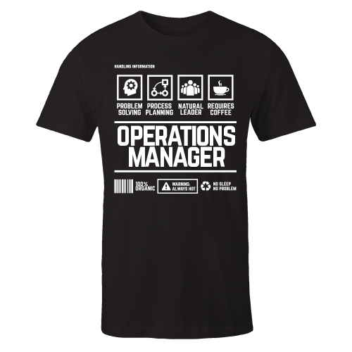 Operations Manager Handling Black Cotton Shirt