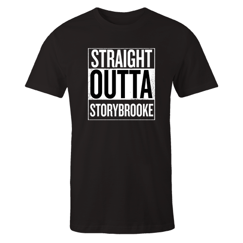 Straight Outta Storybrooke Black Cotton Shirt