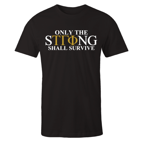 Only The STRong Black Cotton Shirt