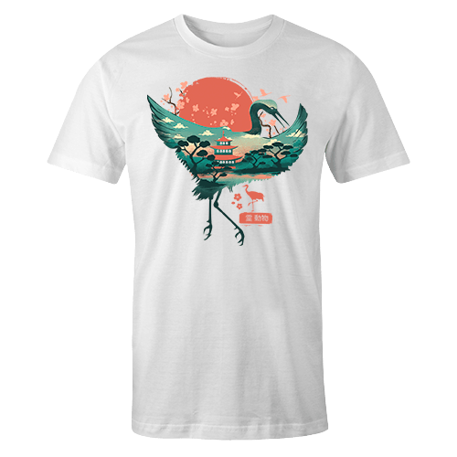 Oriental Crane Sublimation Dryfit Shirt