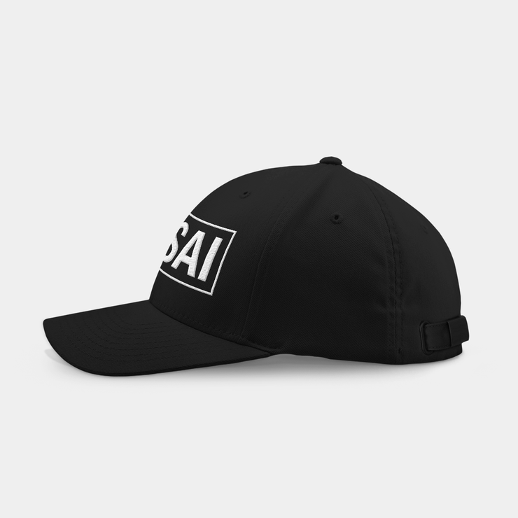 Pang Sai Black Embroidered Cap