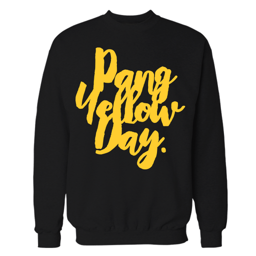 Pang Yellow Day Black Cotton Sweatshirt