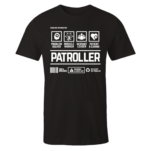 Patroller Handling Black Cotton Shirt
