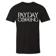Payday Is Coming Black Cotton Shirt