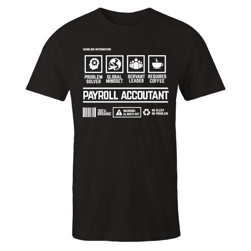 Payroll Accountant Handling Black Cotton Shirt
