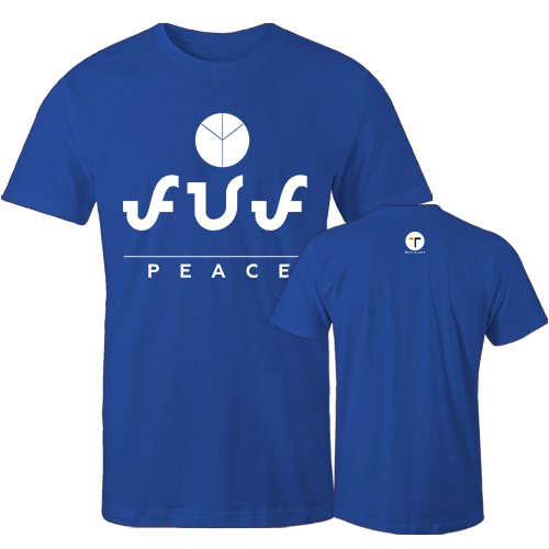 Peace Cotton Shirt With Logo At The Back