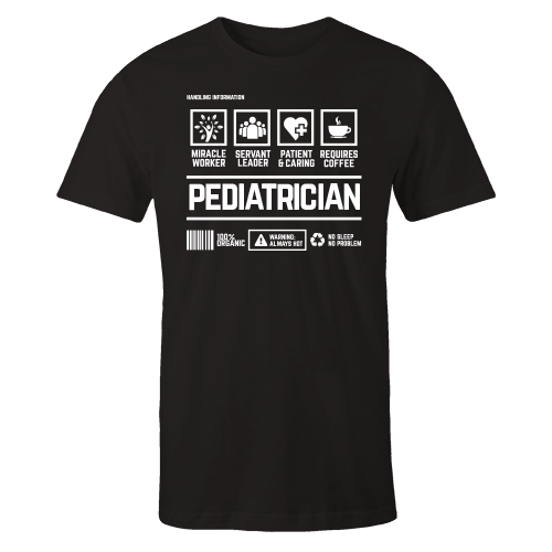 Pediatrician Handling Black Shirt