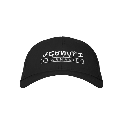 Pharmacist Black Embroidered Cap