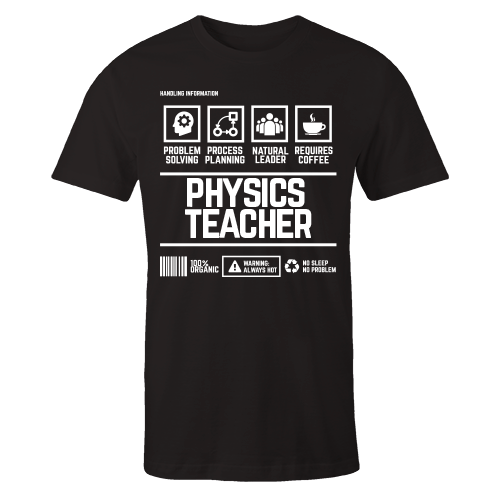 Physics Teacher Handling Black Cotton Shirt
