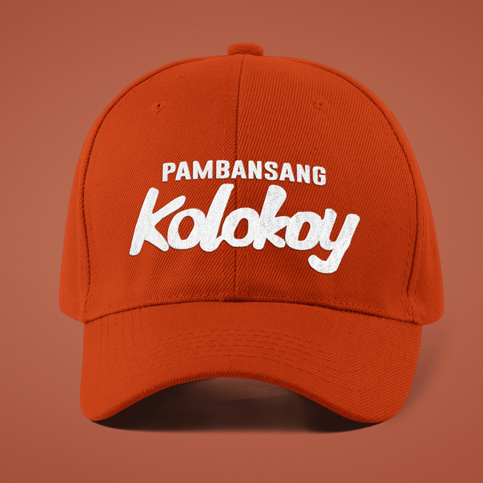 Pambansang Kolokoy NEW Red Embroidered Cap