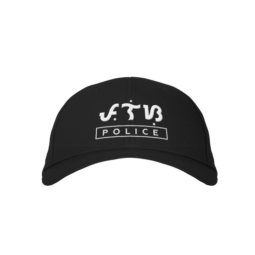 Police Black Embroidered Cap