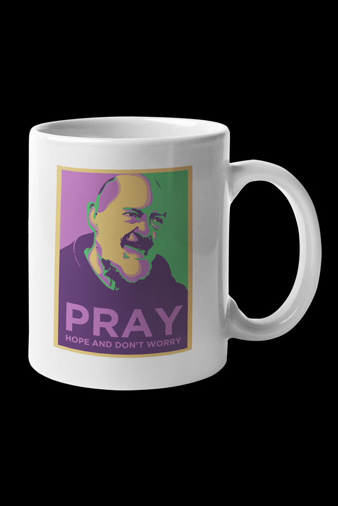 Padre Pio Sublimation White Mug