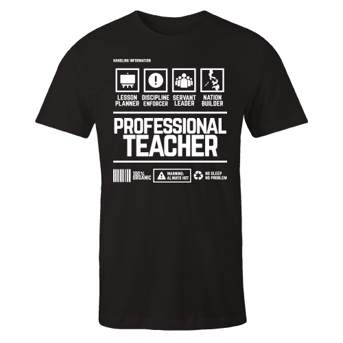 Professional Teacher Handling Black Shirt