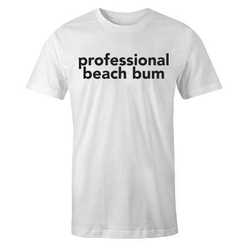 Beach Bum White Shirt
