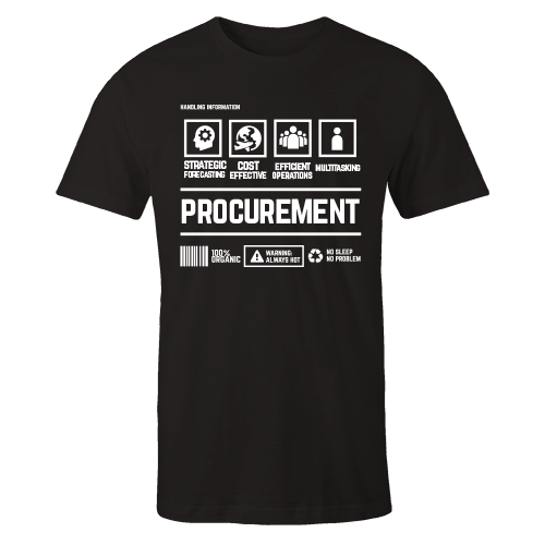 Procurement Handling Black Cotton Shirt