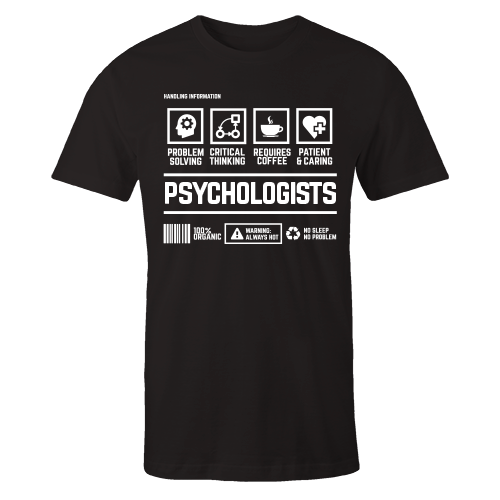 Psychologists Handling Black Cotton Shirt