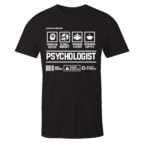 Psychologist Handling Black Cotton Shirt