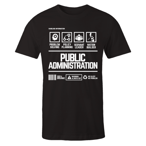 Public Administration Black Cotton Shirt