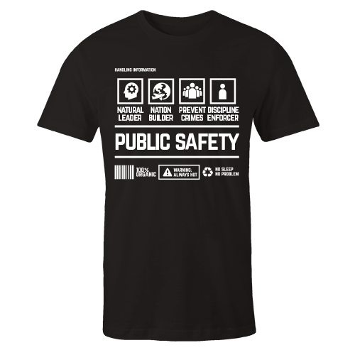 Public Safety Handling Black Cotton Shirt