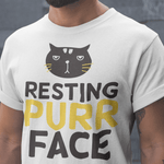 Purr Face White Shirt