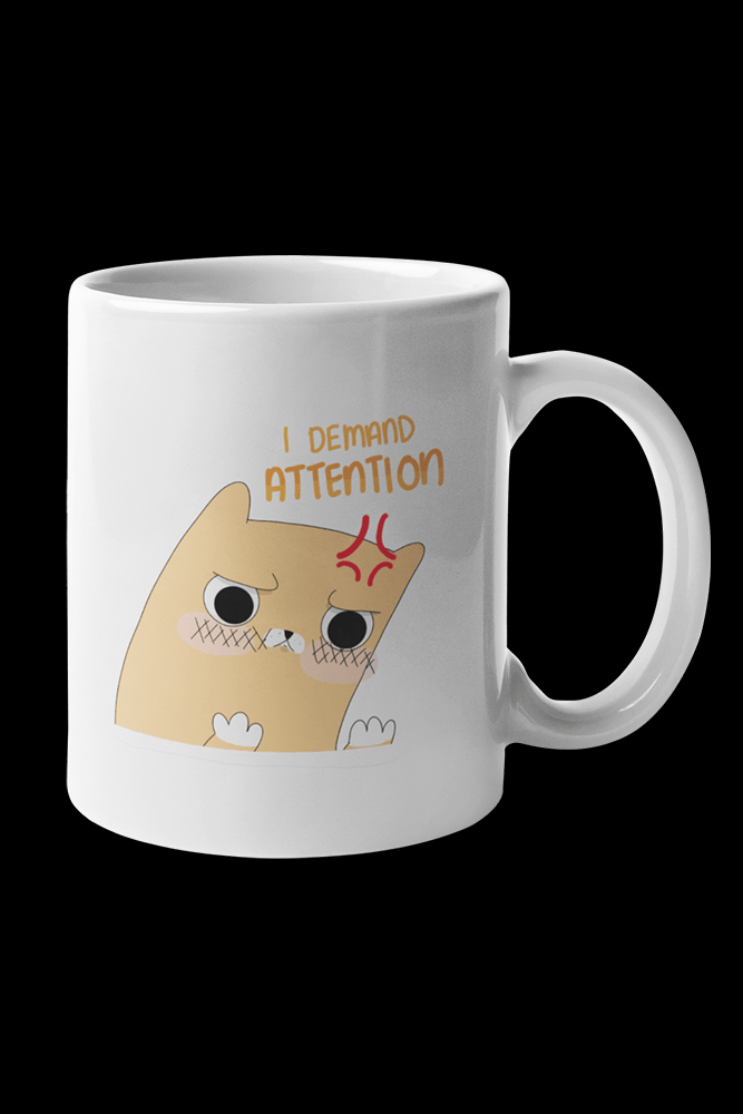 i deman attention 2 Sublimation White Mug