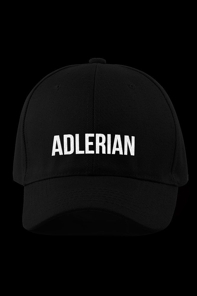Adlerian Black Embroidered Cap