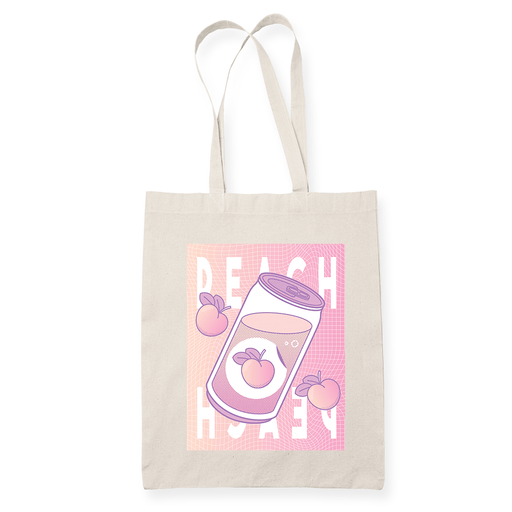 Peach Wave Sublimation Canvass Tote Bag