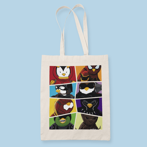 Penguin Comics Mashup v9 Sublimation Canvass Tote Bag