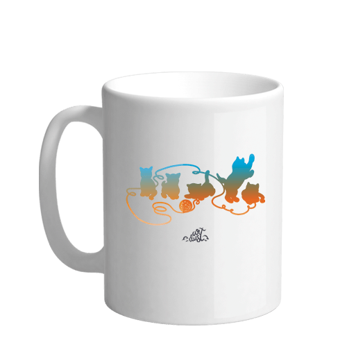 Playful Kittens Sublimation White Mug