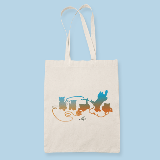 Playful Kittens Sublimation Canvass Tote Bag
