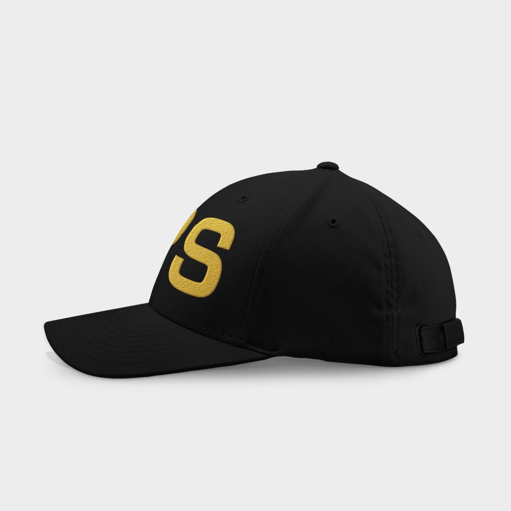 Pops Black Embroidered Cap