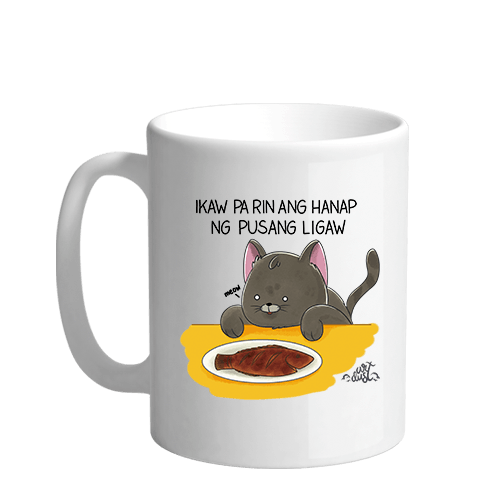 Pusang Ligaw Sublimation White Mug