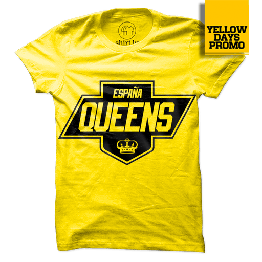 QUEENS SHIRT Yellow Cotton Shirt