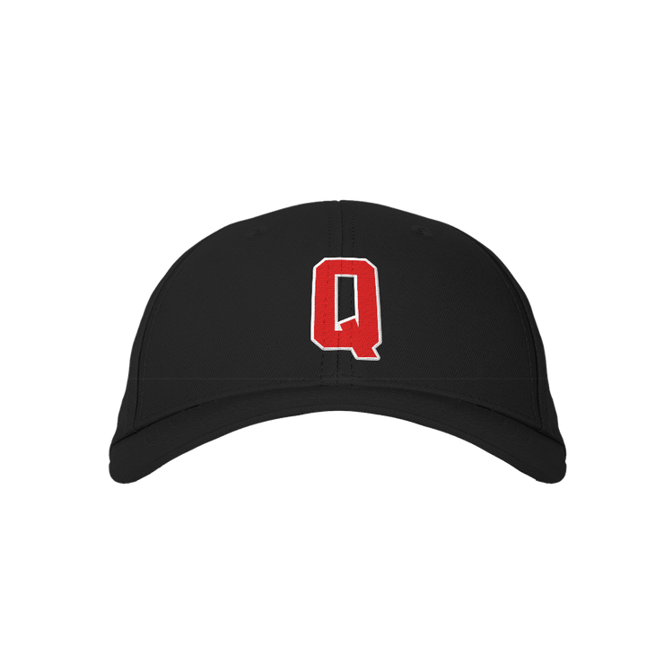 Letter Q Black Embroidered Cap