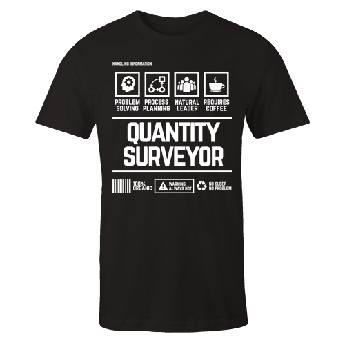 Quantity Surveyor Handling Black Cotton Shirt