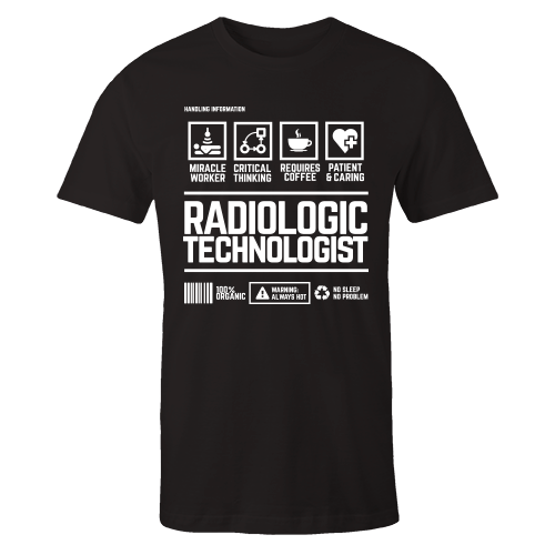 Radiologic Technologist Handling Black Cotton Shirt