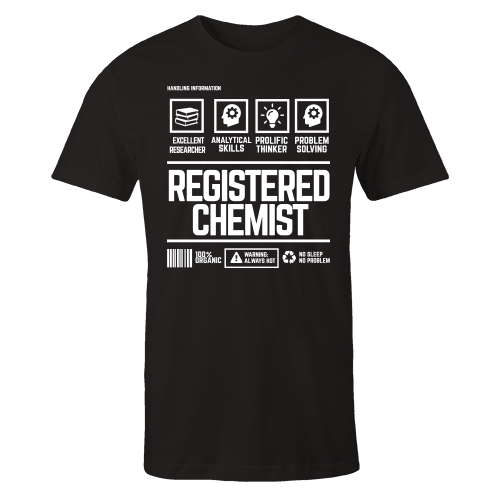 Registered Chemist Handling Black Shirt