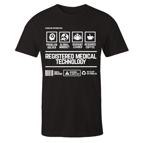 Registered Medical Technology Handling Black Cotton Shirt