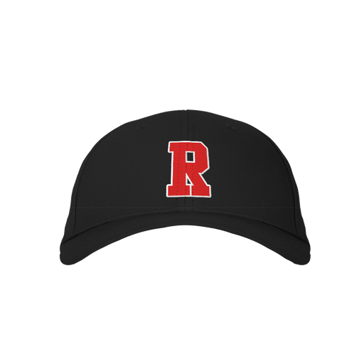 Letter R Black Embroidered Cap