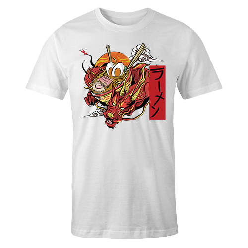 Ramen Dragon White Sublimation Dryfit Shirt