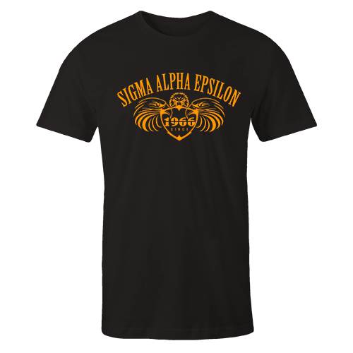 SAE EAGLE Black Cotton Shirt