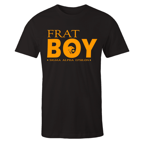 SAE Frat Boy Black Cotton Shirt