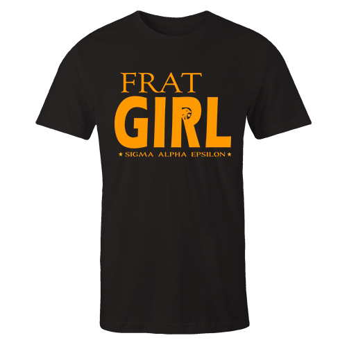 SAE Frat Girl Black Cotton Shirt