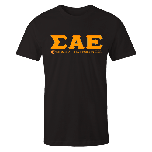SAE GREEK Black Cotton Shirt