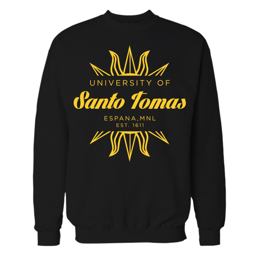 Santo Tomas Black Cotton Sweatshirt