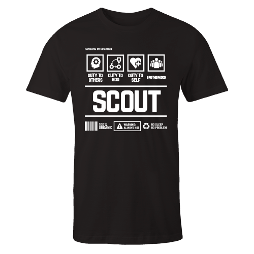 Scout Handling Black Cotton Shirt