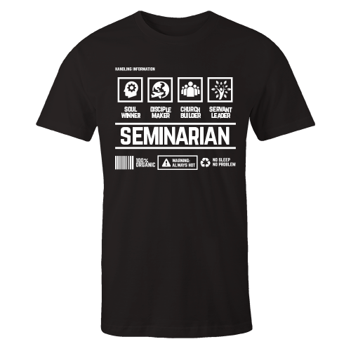 Seminarian Handling Black Cotton Shirt