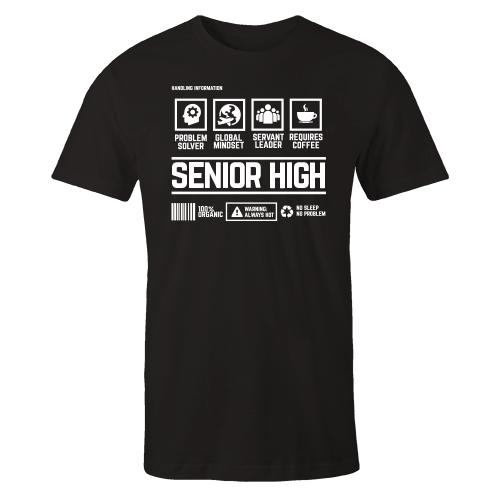 Senior High Handling Black Shirt