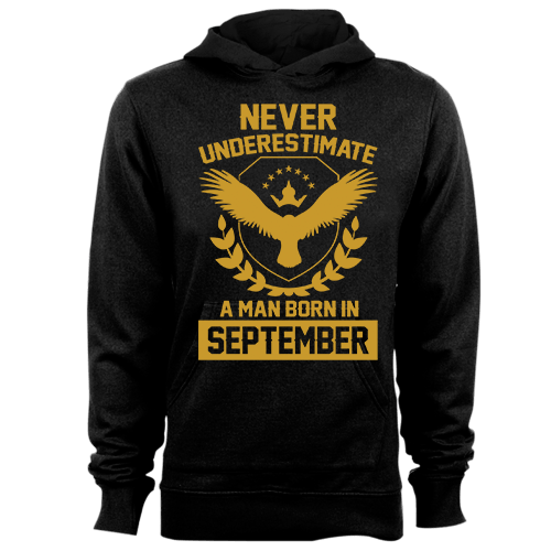 Never Underestimate A Man Born In September Cotton Shirt